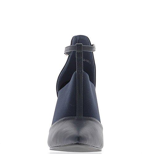 10 Sharp Thick bi Material Pumps Heel cm Blue qwwTxAP