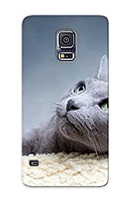 Galaxy S5 Case, Premium Protective Case With Awesome Look - Animal Cat(gift For Christmas)