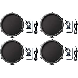 Alesis Nitro 8 Inch SINGLE-ZONE Mesh Tom Pad Expansion Pack- 8″ Drum, Clamp, Cable – DMPad (4 Pack)