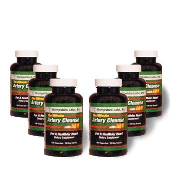 Ultimate Artery Cleanse with CoQ10 - Six Month Supply! by Ultimate Artery Cleanse