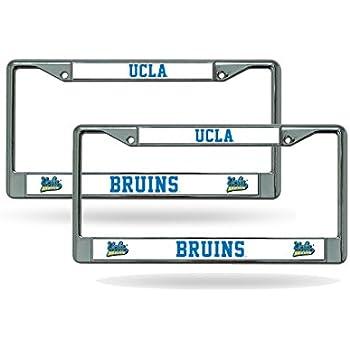 Amazon.com : UCLA Bruins Chrome License Plate Frame - Set of 2 ...