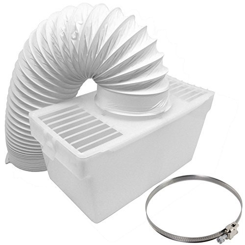 Spares2go Condenser Vent Box & Hose Kit With Jubilee Clip For Zanussi Vented Tumble Dryer (4