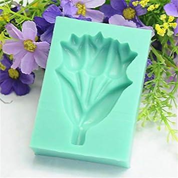 Molde de silicona 3d 3d rosa molde silicona para hornear herramientas 3D 1 pieza aroma agradable rosa vivo flor/tulipán ramo fondant molde silicona azúcar ...