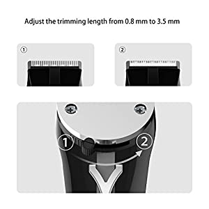 Spaire Hair Clippers Cordless Beard Trimmer Kit Antirust Ceramic Blade Rechargeable Non-slip Circle Handle for Men, Kids, Pet Grooming