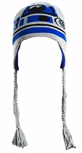 Star Wars R2-D2 Character Laplander Beanie Adult Size Knit (R2d2 Hat)
