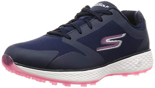 Skechers Women's Eagle Relaxed Fit Golf Shoe, Navy/Pink 9 M - Relaxed Golf
