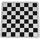 WE Games black silicone tournament chess mat - 19.75 inch board with 2.25 inch squares