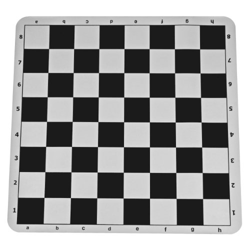 The Original 100% Silicone Tournament Chess Mat - 20 Inch Board, Black - by WE - Board Game Tournament