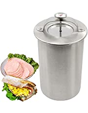 Ham Maker, Stainless Steel Meat Press Sandwich Maker with Thermometer, Homemade Healthy Deli Sausage Ham, Dishwasher Safe Include Cooking Bag