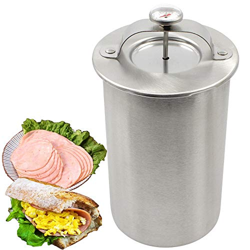 Ham Maker - Stainless Steel Meat Press Maker With Thermometer For Sandwich Homemade Healthy Meat Recipe, Include 20 PCS Cooking Bags (Large)