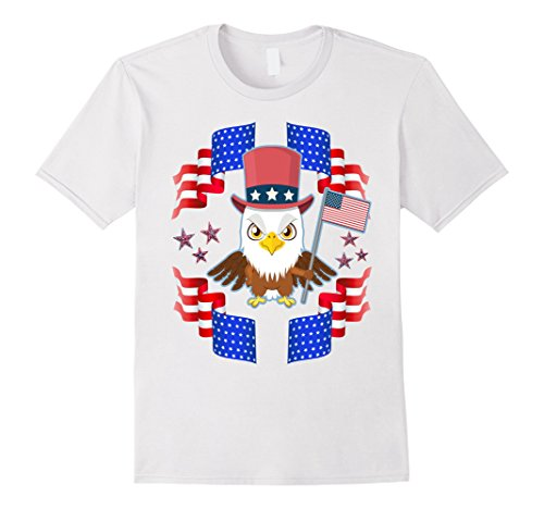 Mens 4th of JULY : Eagle USA American Flag Red White Blue...