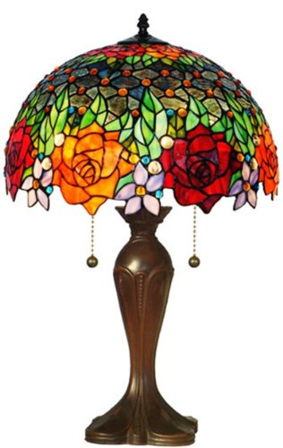 Amora Lighting Amora Lighting AM1534TL16 Tiffany Style Roses Table Lamp 23 In