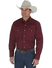 Men's Western Work Shirt Washed Finish