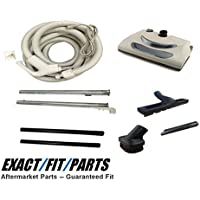Central Vacuum Kit with Power Head, 35 foot Hose, Tools for Beam Electrolux Nutone Hayden Brands