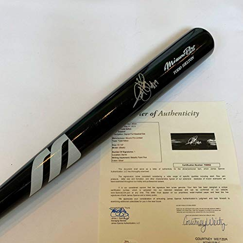 (Todd Helton Autographed Bat - Beautiful #17 Game Model Mizuno COA - JSA Certified - Autographed MLB Bats)