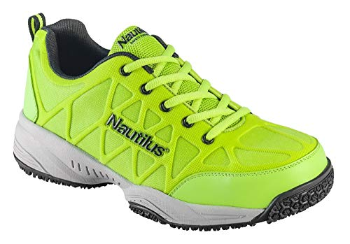 Nautilus 2115 Comp Toe Light Weight Slip Resistant Athletic Shoe, Lime, 14 M US ()