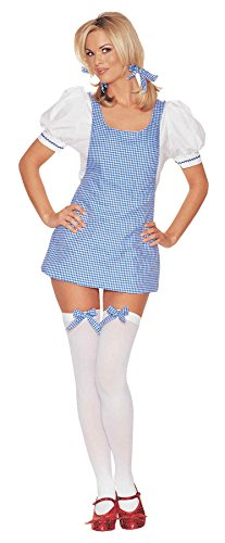 Cheap Wizard Of Oz Costumes (Leg Avenue Womens Dorothy Wizard Of Oz Outfit Fancy Dress Sexy Costume, S/M (4-8))