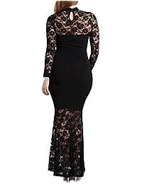 832 - Plus tamaño Mermaid Lace Maxi vestido de cóctel largo Albornoz