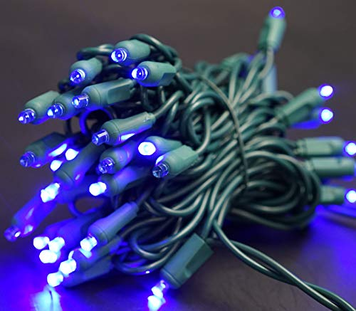 50 Blue Led Christmas Lights