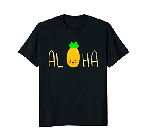 Pineapple Fruit Aloha Beaches Hawaii - Hawaiian (Honolulu Hawaiian Shirt)