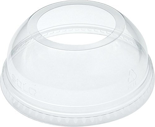 Dart DLW626 Clear Lid PET 626 Dome With Ex Lg Hole (Case of 1000) (Renewed)