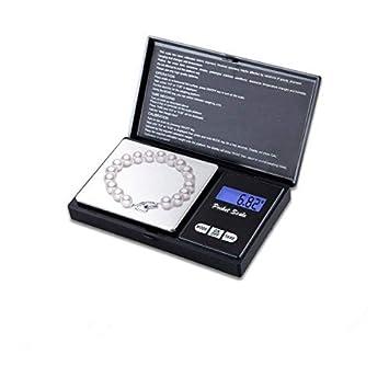 Digital de Bolsillo para Joyería con Pantalla LCD, Balanza electronica de joyas, Balanza De Precision Con Función De Contador 500g~0.01g: Amazon.es: ...