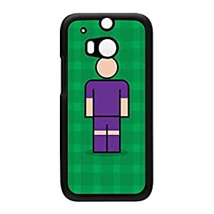 Fiorentina Black Hard Plastic Case for HTC? One M8 by Blunt Football European + FREE Crystal Clear Screen Protector