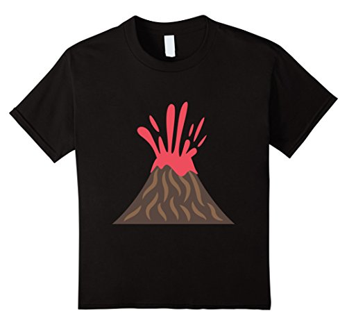 Price comparison product image Kids Emoji T Shirt Lava Volcano Tee t shirt T SHIRTS 6 Black