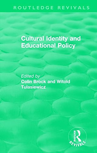 Cultural Identity and Educational Policy (Routledge Revivals) by Routledge