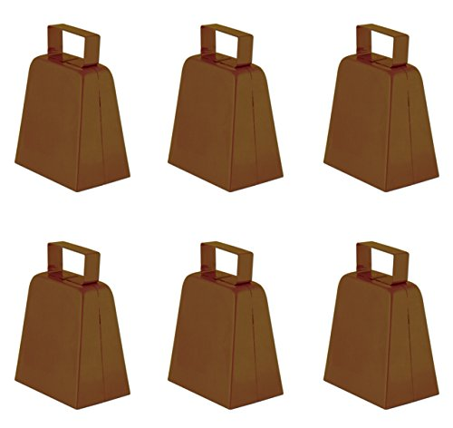 Beistle S60939-BRAZ6 Brown ((6 Piece) Cowbells 4