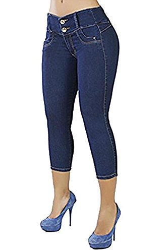 chimikeey Womens Butt Lifting Capris Skinny Stretch Jeans Jeggings