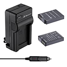 Powerextra 2 Pack Nikon Replacement Battery and Charger for Nikon EN-EL12 and Nikon Coolpix AW100, AW110, S640, S6000, S6100, S6150, S6200, S6300, S8000, S8100, S8200, S9050, S9100, S9200, S9300, S9500