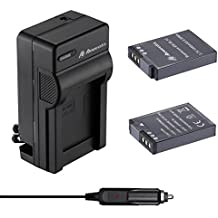 Powerextra 2 Pack Battery and Charger for Nikon EN-EL12 and Nikon Key Mission 360, Nikon Coolpix AW130, A900, W300, P340, S9900, S8200, S6300, S1200pj, S800C, S710, S31, S70, etc(check description)