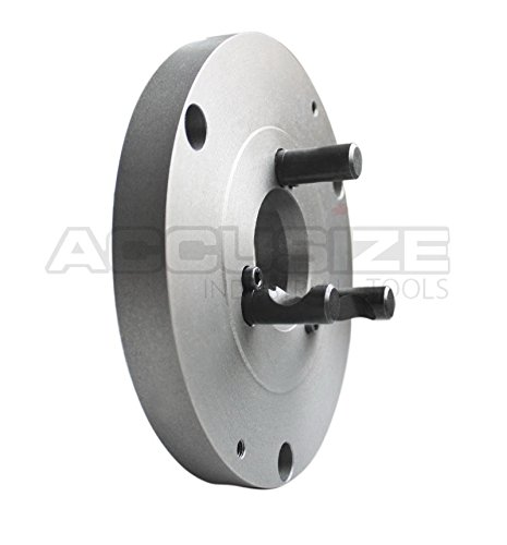 Accusize Industrial Tools D1 Type Adaptor for Most 3 Jaw Lathe Chucks, Spindle Taper D1-4, Chuck Diameter: 6'', 2600-0511