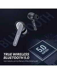 Auriculares inalámbricos SoundPEATS, Bluetooth V5.0, intraurales, TWS, inalámbricos, con micrófono de alta definición (sonido estéreo, Smart Touch, IPX5, 24 horas de reproducción)