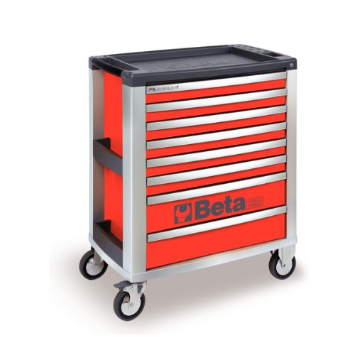 C39 R/8-MOBILE ROLLER CAB 8 DRAWERS RED by Beta Tools