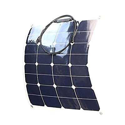 Best Cheap Deal for Giosolar 50W 12V high efficiency flexible monocrystalline solar PV panel for motorhome, caravan, camper, boat/yacht by Giosolar - Free 2 Day Shipping Available