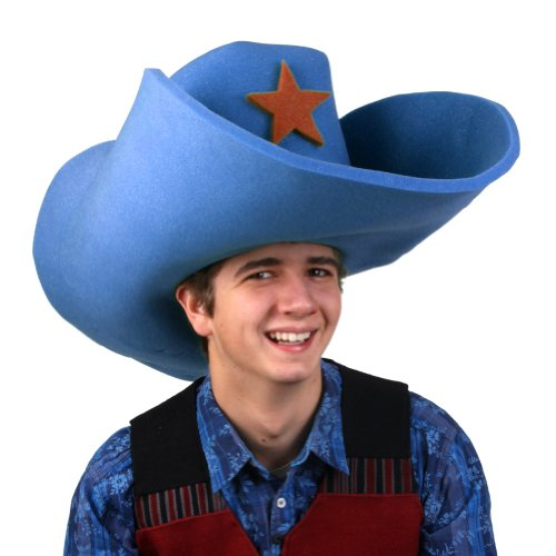 Clown Antics Super Size 50 Gallon Cowboy Hats - Blue -