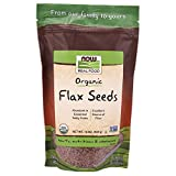 NOW Foods, Organic Flax Seeds, Source of Essential Fatty Acids and Fiber, Certified Non-GMO, Kosher, 1-Pound