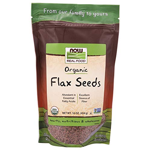 Now Foods Organic Flax Seeds, 16 Ounce