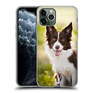Head Case Designs Brown Border Collie in Summer Popular Dog Breeds Soft Gel Case Compatible for iPhone 11 Pro 3