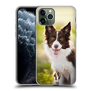 Head Case Designs Brown Border Collie in Summer Popular Dog Breeds Soft Gel Case Compatible for iPhone 11 Pro 8