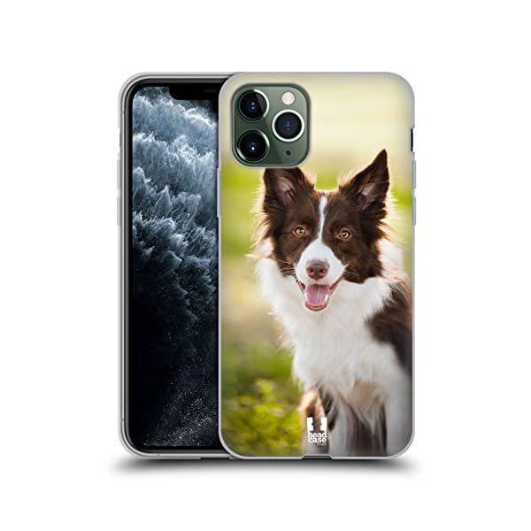 Head Case Designs Brown Border Collie in Summer Popular Dog Breeds Soft Gel Case Compatible for iPhone 11 Pro 1