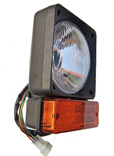 JCB TRACTOR FRONT HEADLIGHT HEAD LAMP+INDICATOR: