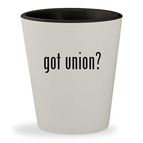 got union? - White Outer & Black Inner Ceramic 1.5oz Shot Glass