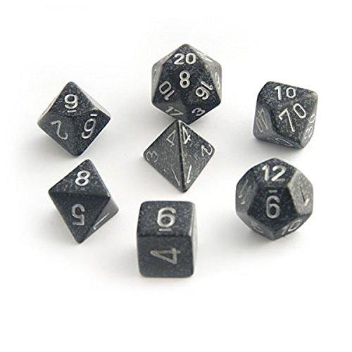 dral 7-Die Speckled Dice Set - Ninja (Fraction Dice Set)