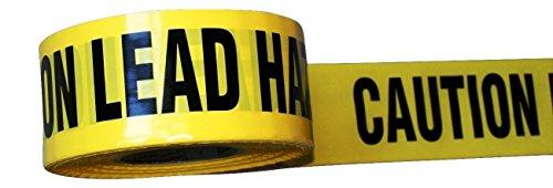 (IronKlad Medium Thickness Barricade Tape | CAUTION LEAD HAZARD | Repeating Message Tape | Yellow/Black | 3 Inch X 1000 Feet)
