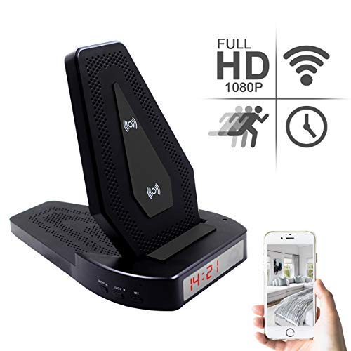 Mini Spy Camera WiFi Hidden Camera Small Wireless Charger Security Cameras System for Home Secret-HD 1080P Motion Detection Remote View Surveillance ()