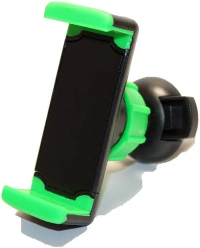 Black and Green 360 Rotation Anti-Slip Car Vent Clip Mobile Phone Holder Adjustable Air Vent Phone Holde Free 3ft aux//Audio Cord Includedr