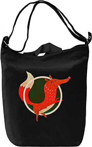Funny Fox Borsa Giornaliera Canvas Canvas Day Bag| 100% Premium Cotton Canvas| DTG Printing|